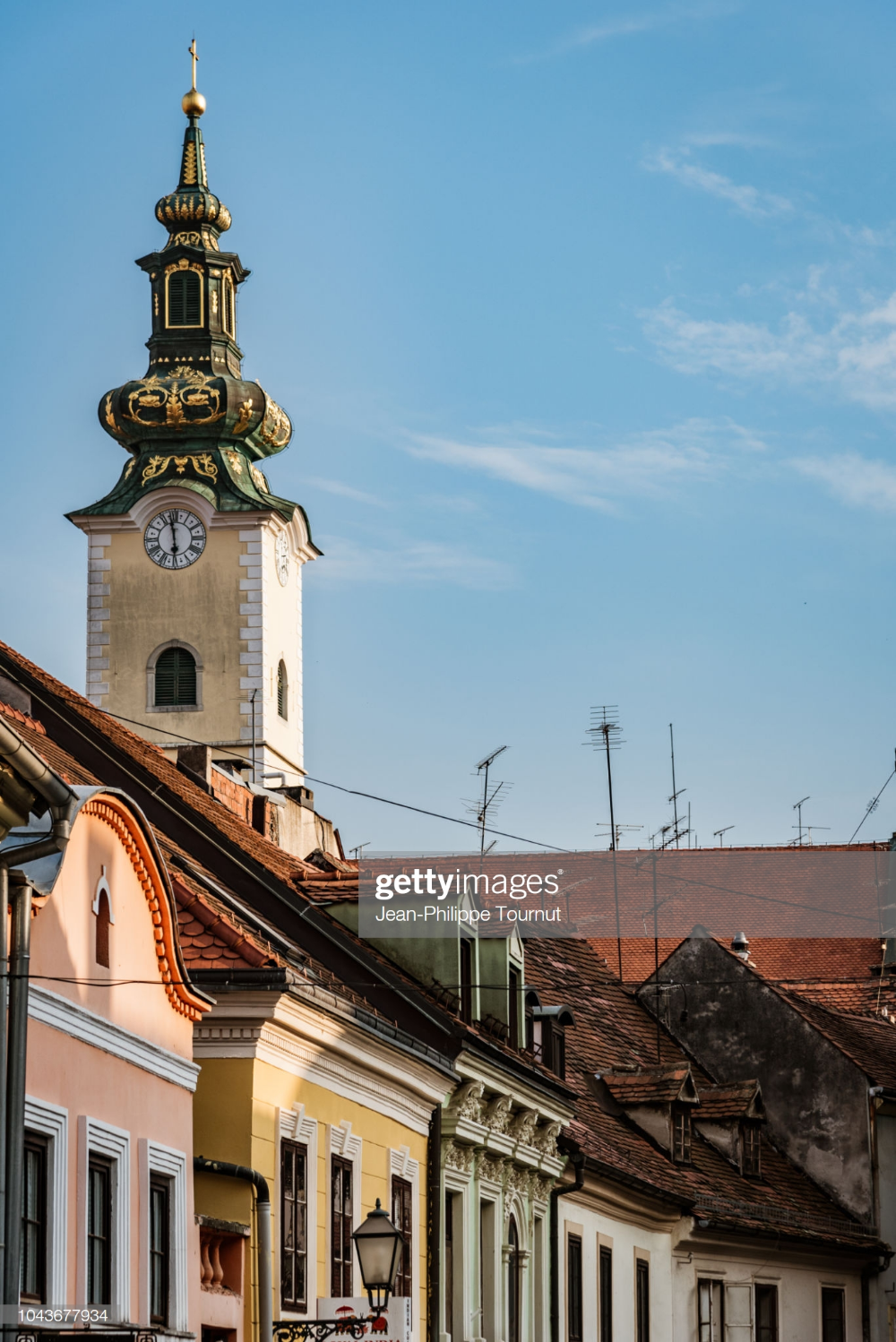 Facades And The Clock Tower Of Saint Mary Church In Zagreb Croatia Clock Tower Tower Zagreb