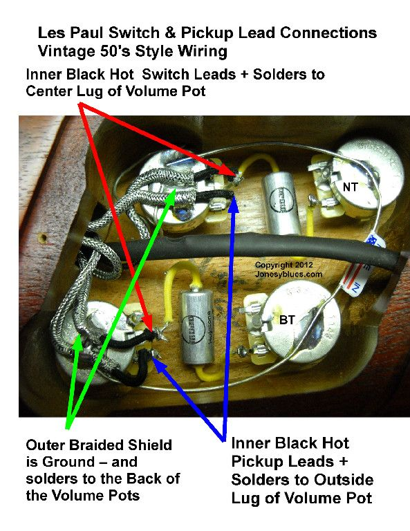 2013 gibson les paul standard wiring diagram jonesyblues les paul wiring tips & diy videos | like ...