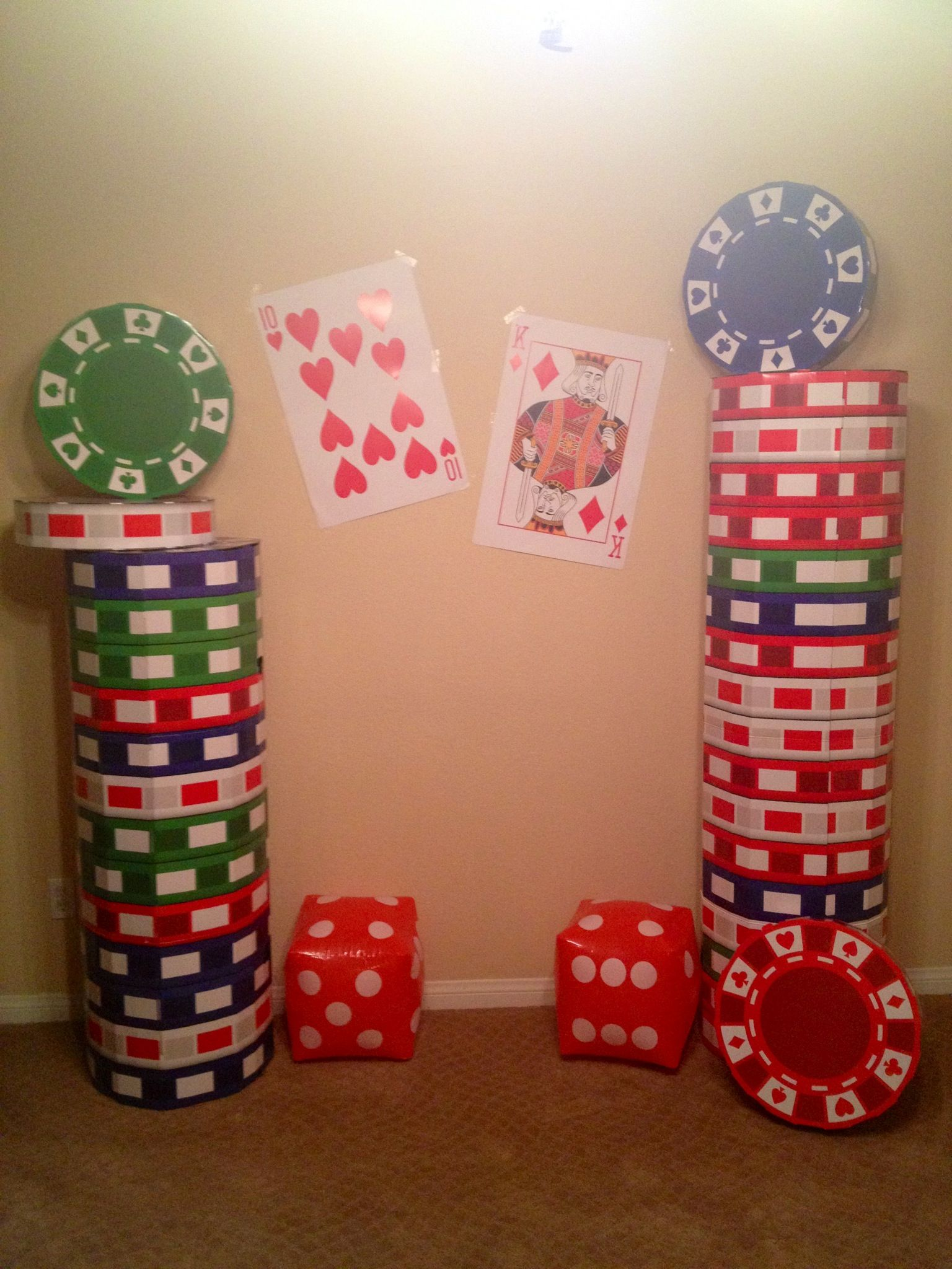 casino abend deko