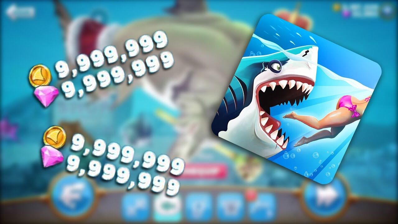 hungry shark world gems and coins hack