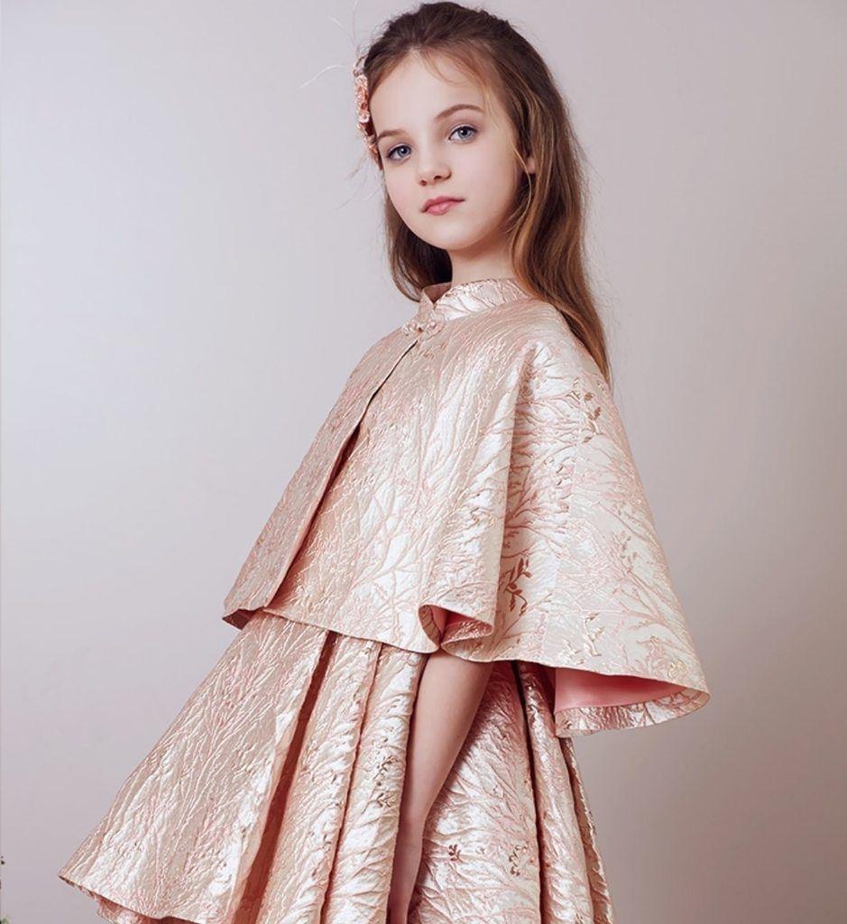 Floral Embroidered Cloak Pakistani kids dresses, Frocks