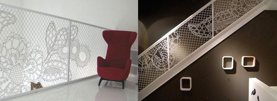 Clôtures industrielles ou pour la sécurité intérieure, la dentelle décorative par http://www.lacefence.com/