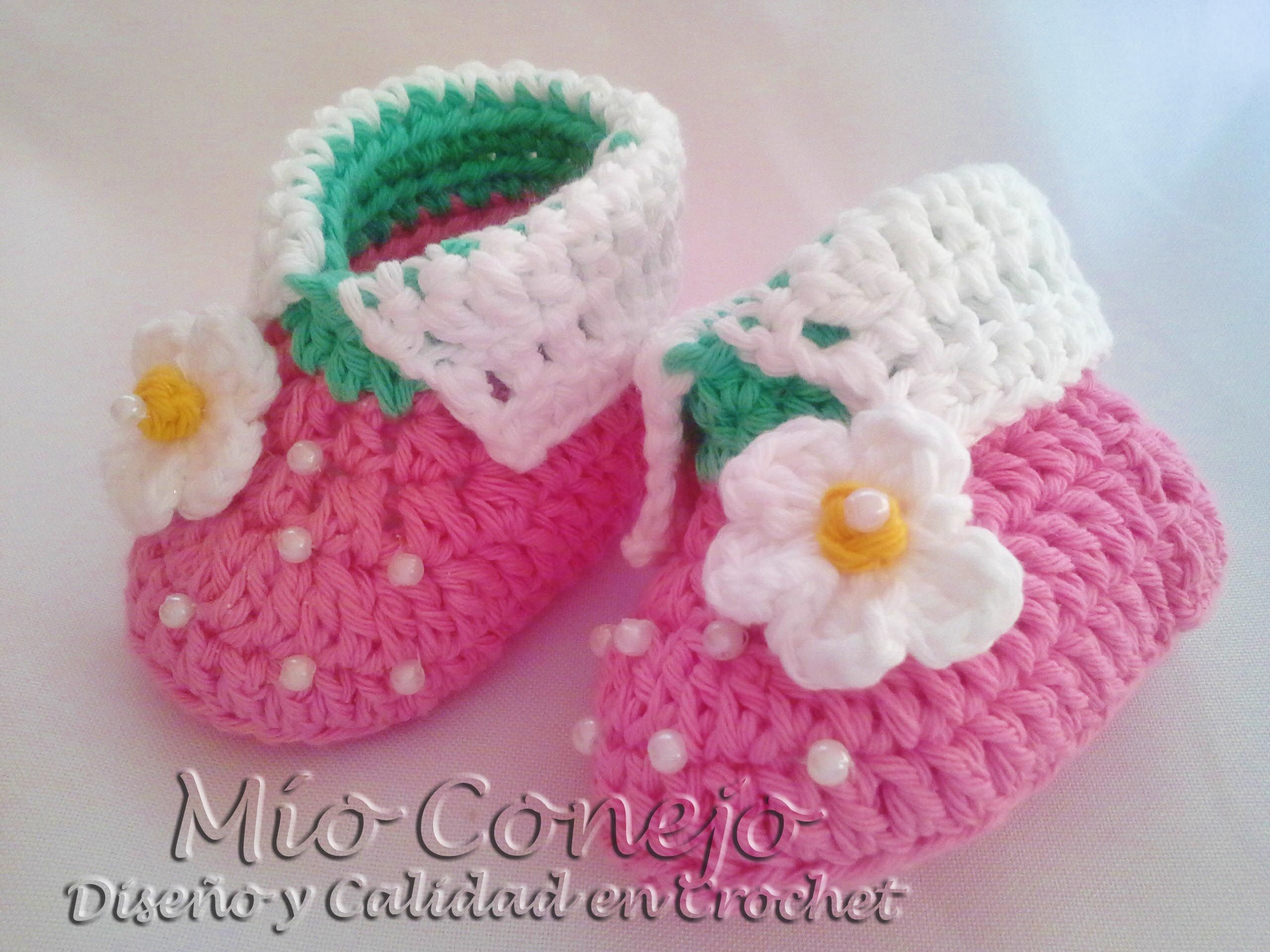 Magnífico Patrón De Crochet Libre Para Mary Jane Bebé Zapatos ...