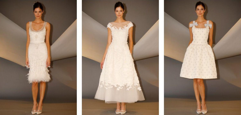 short wedding dresses from carolina herreraus latest collection