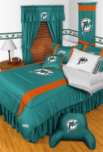 NFL Miami Dolphins 5 Pc Bed in a Bag Queen Bedding Set by ...