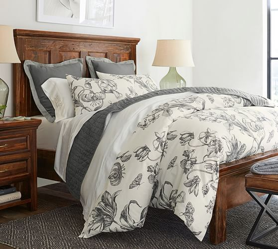 Pippa Floral Print Organic Duvet Cover Amp Amp Sham Bed Linens Luxury Cool Beds Bed Linen Design