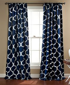 Curtains with navy : Navy curtains bedroom on pinterest | masculine ...