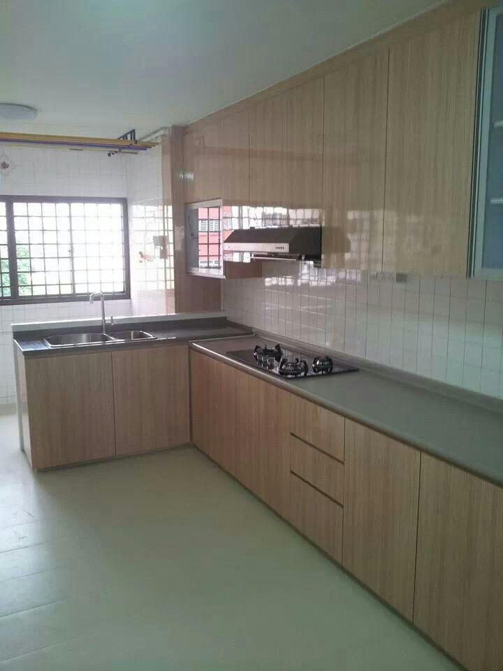 Singapore Hdb 3 Room Interior Design: Hdb Kitchen -photo Credits To Budget Studio