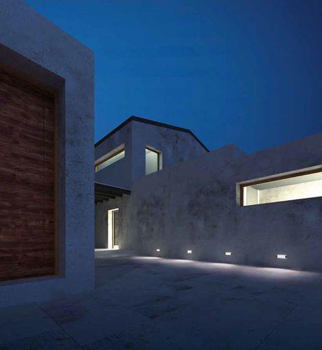 Luminaria lineal de exterior a led empotrable para pared e for Luminarias de exterior