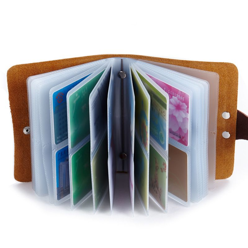 New fashion genuine leather men women card holder wallet soft high new fashion genuine leather men women card holder wallet soft high quality business card package 60 slots case card holders pinterest reheart Images