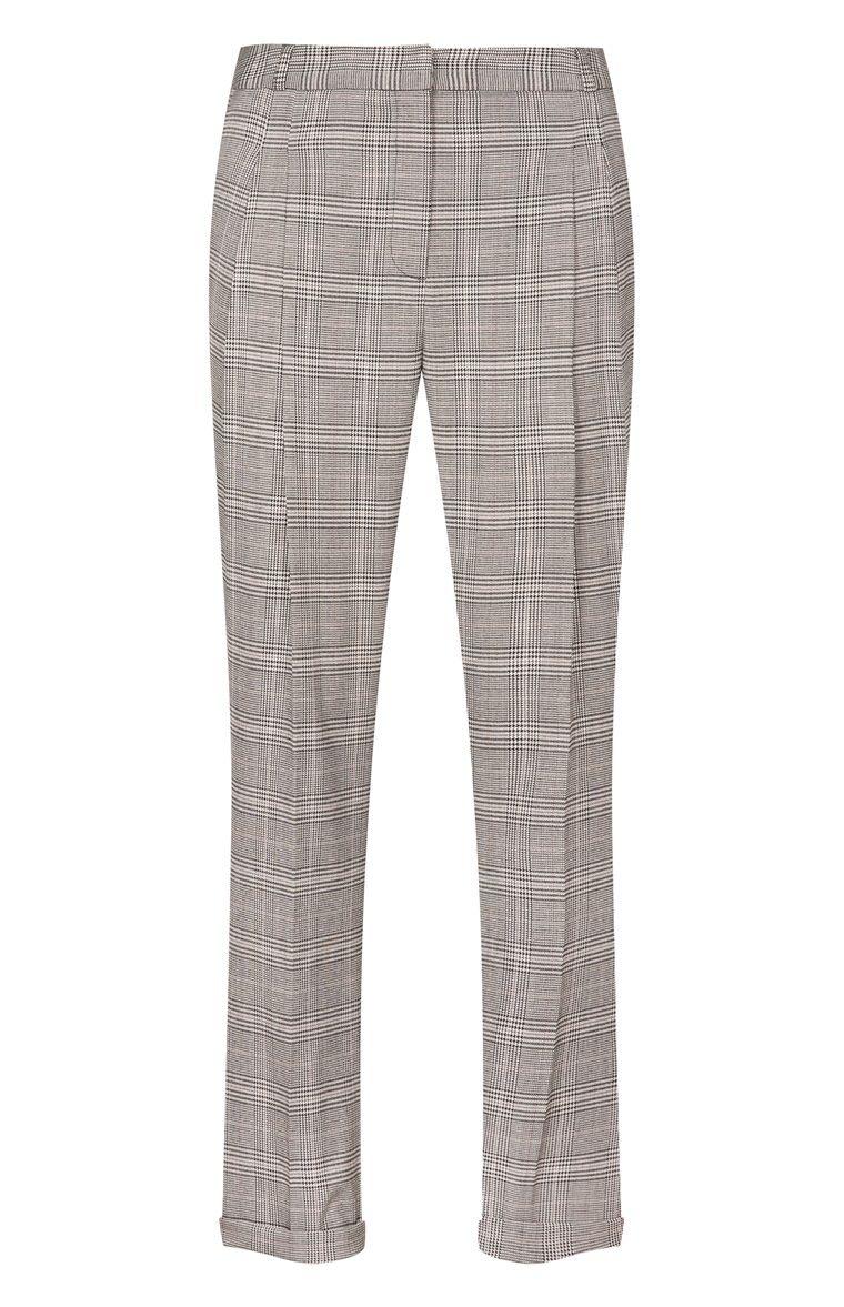 Pantalones de pinza a cuadros grises  6703d4fe8bda