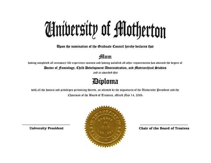 Fake Diplomas And Degrees Fun Gag Novely Diplomas And Degrees