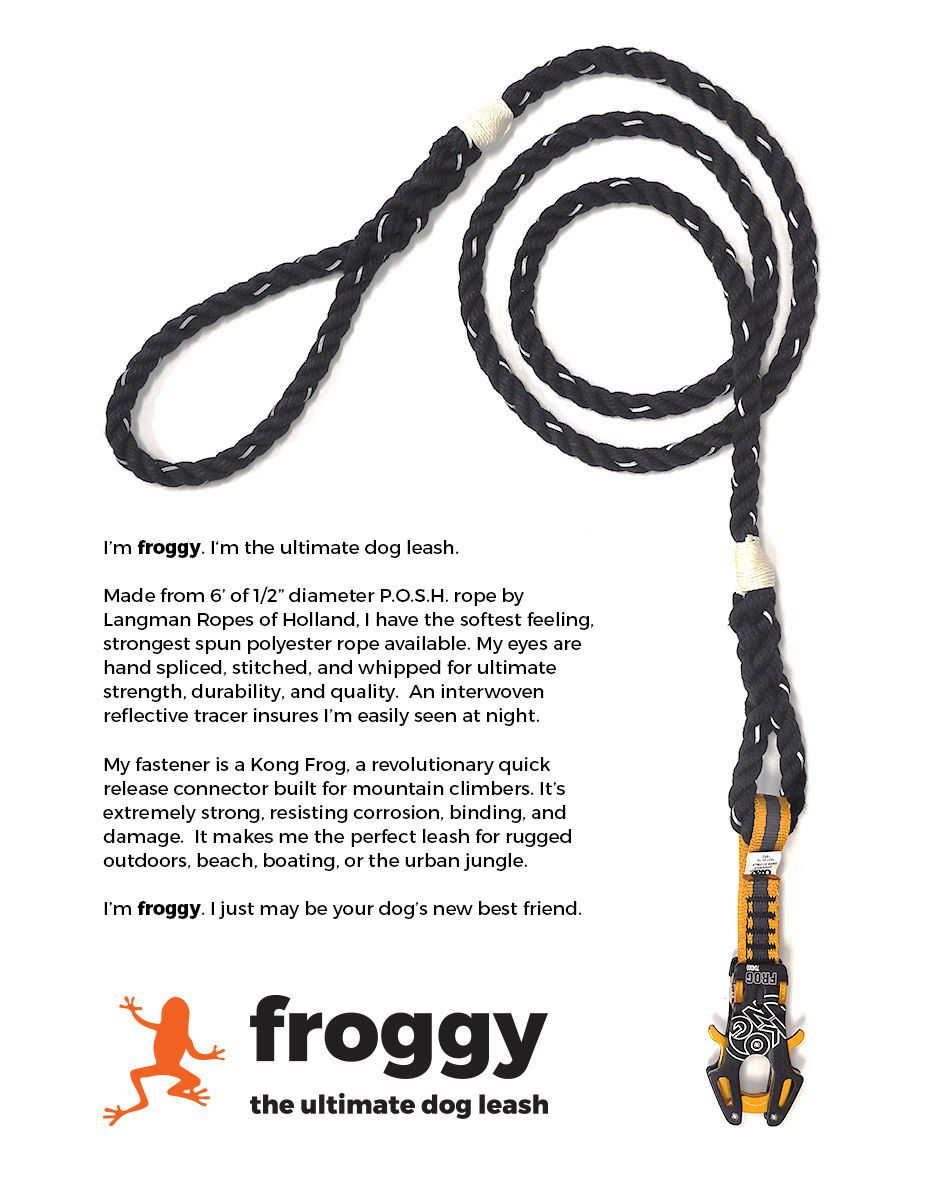Froggy The Ultimate Kong Frog Dog Leash Reflective Rope Dog