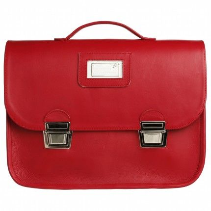 940eeb4dd7 Grand cartable cuir rouge - Chocolat Show Cuir Rouge, Sac Cuir, Cartable  Cuir,