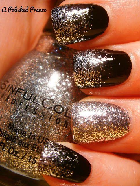 Black nails for fall/winter | crafts | Pinterest | Arte de uñas ...