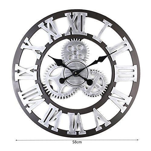 Product Feature 100 Brand New With High Quality Made Of Quality Wooden Material Durable For A Long Time Use Retro Vi Gear Wall Clock Wall Clock Rustic Clock