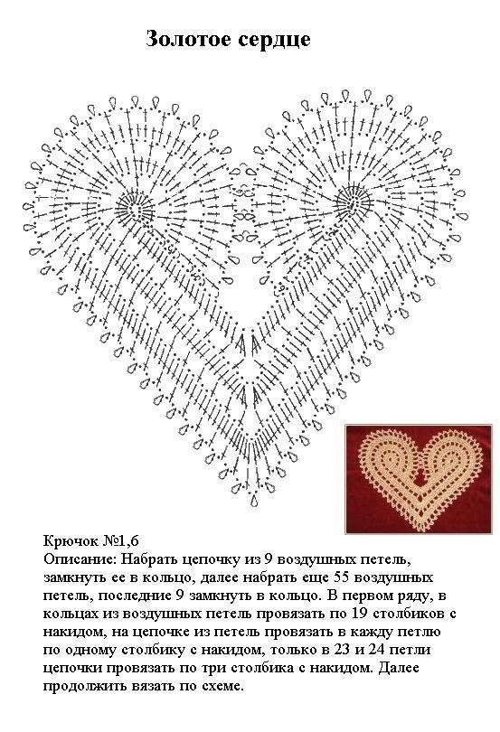 grafico corazon | CROCHE | Pinterest