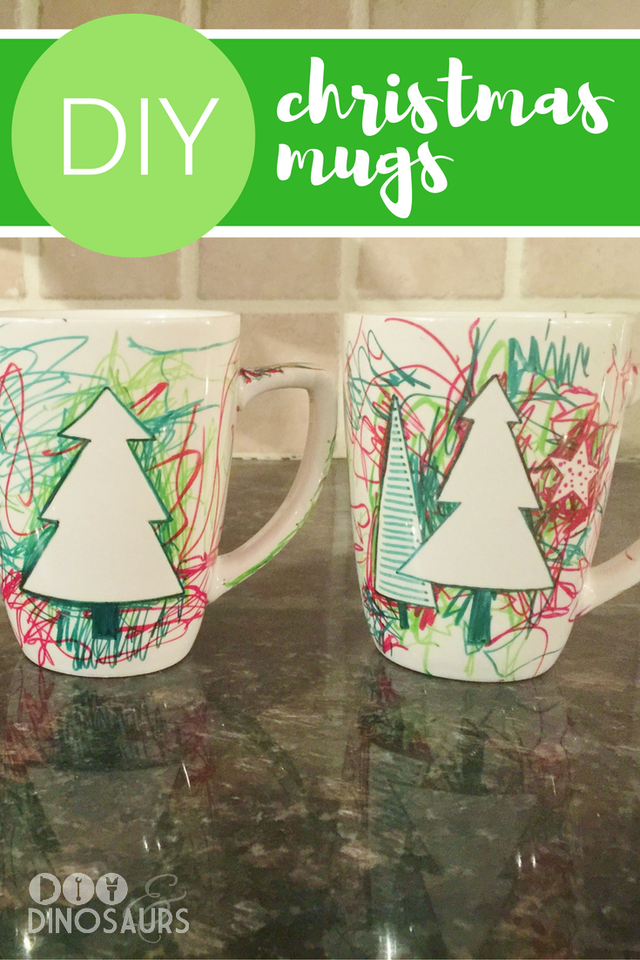 Christmas DIY Mugs for Kids - | DIY/Crafts ✄ | Amazing Crafts on ...