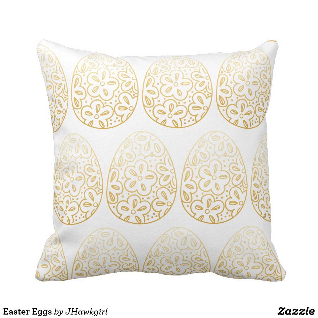 Easter eggs throw pillow throw pillows