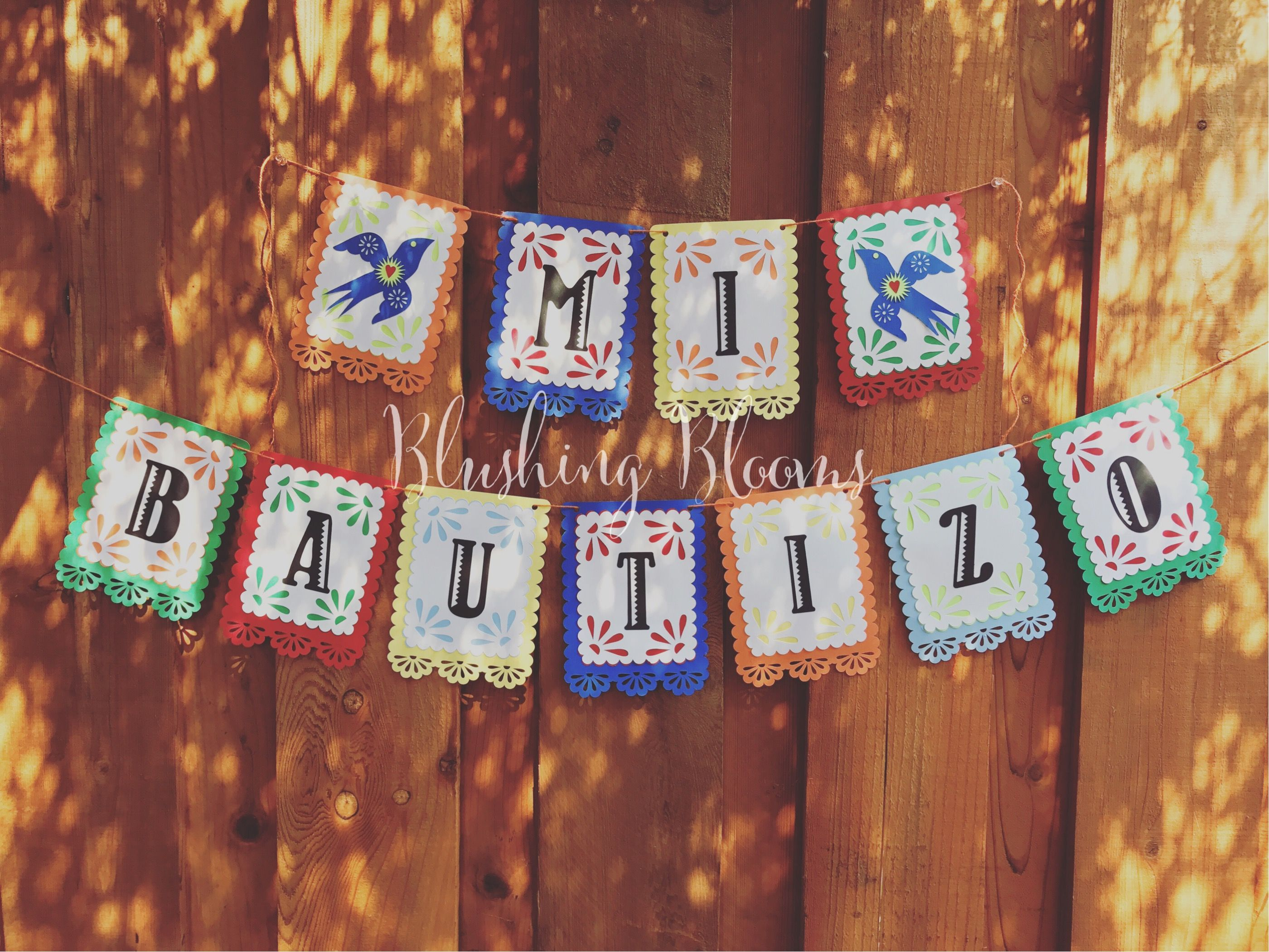 Mi Bautizo Fiesta Themed Banner From Blushing Blooms By Amber