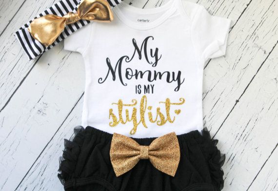 Baby girl clothes  my mommy is my stylist outfit  baby girl outfit  mommy and me  newborn girl clothes  girl clothes  stylist shirt is part of Girl Clothes Outfits - doUH5 to sign up and get the code!