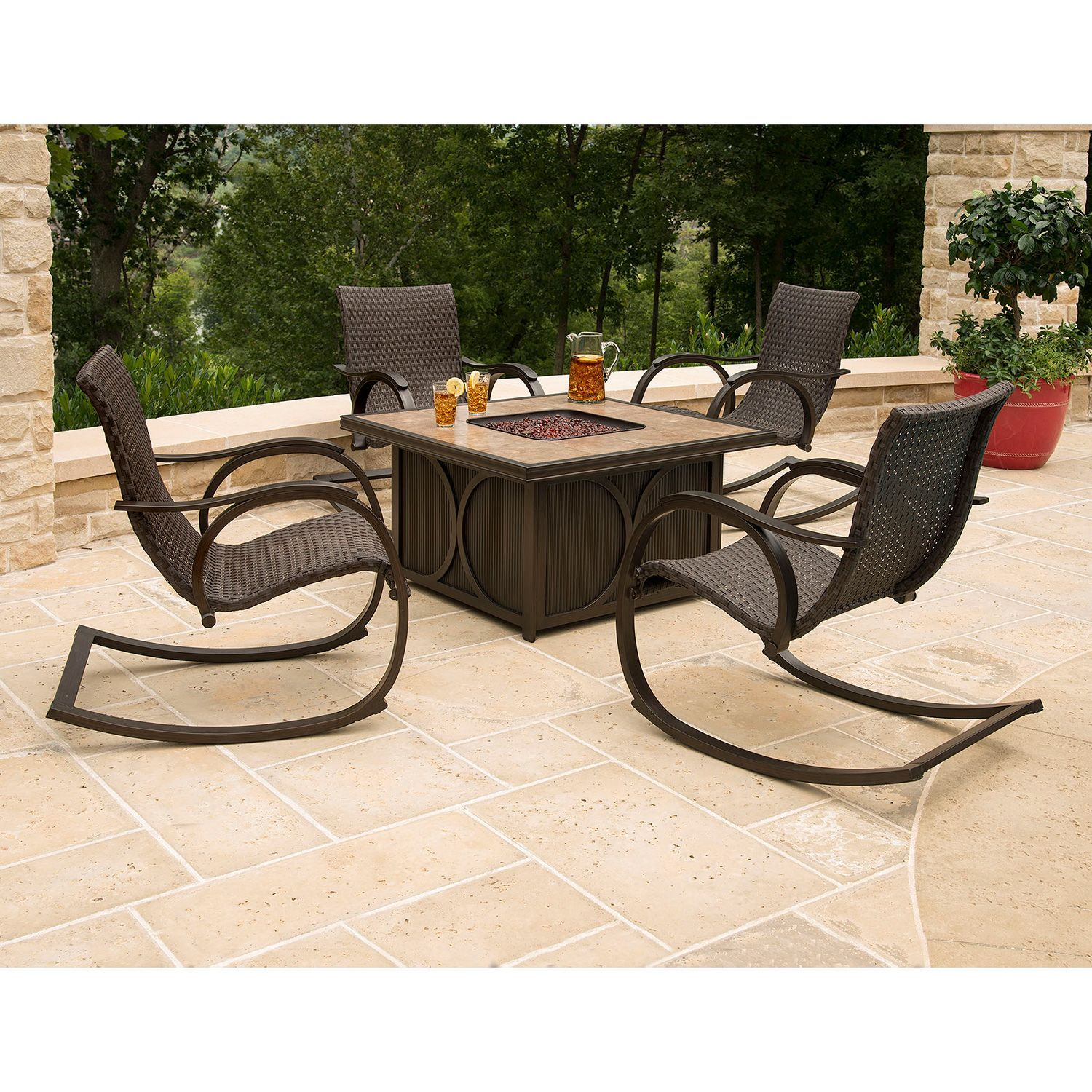 throughout patio immaculate decor with conversation table chairs pit fire and outdoor pits gas your furniture sets residence