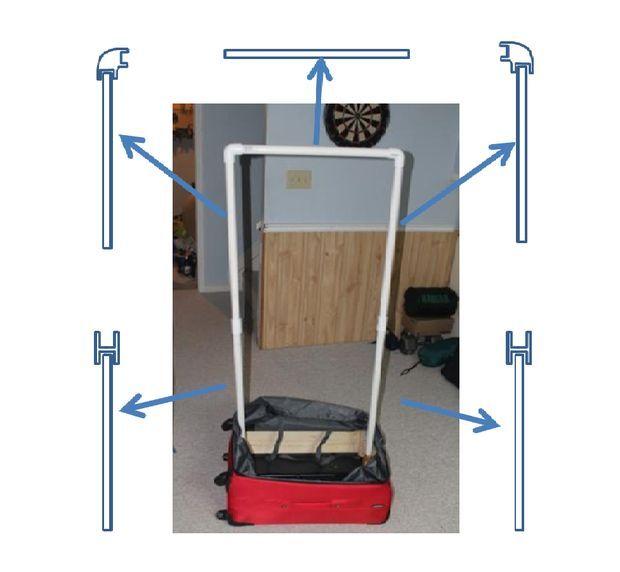 Portable Wardrobe Suitcase Conversion