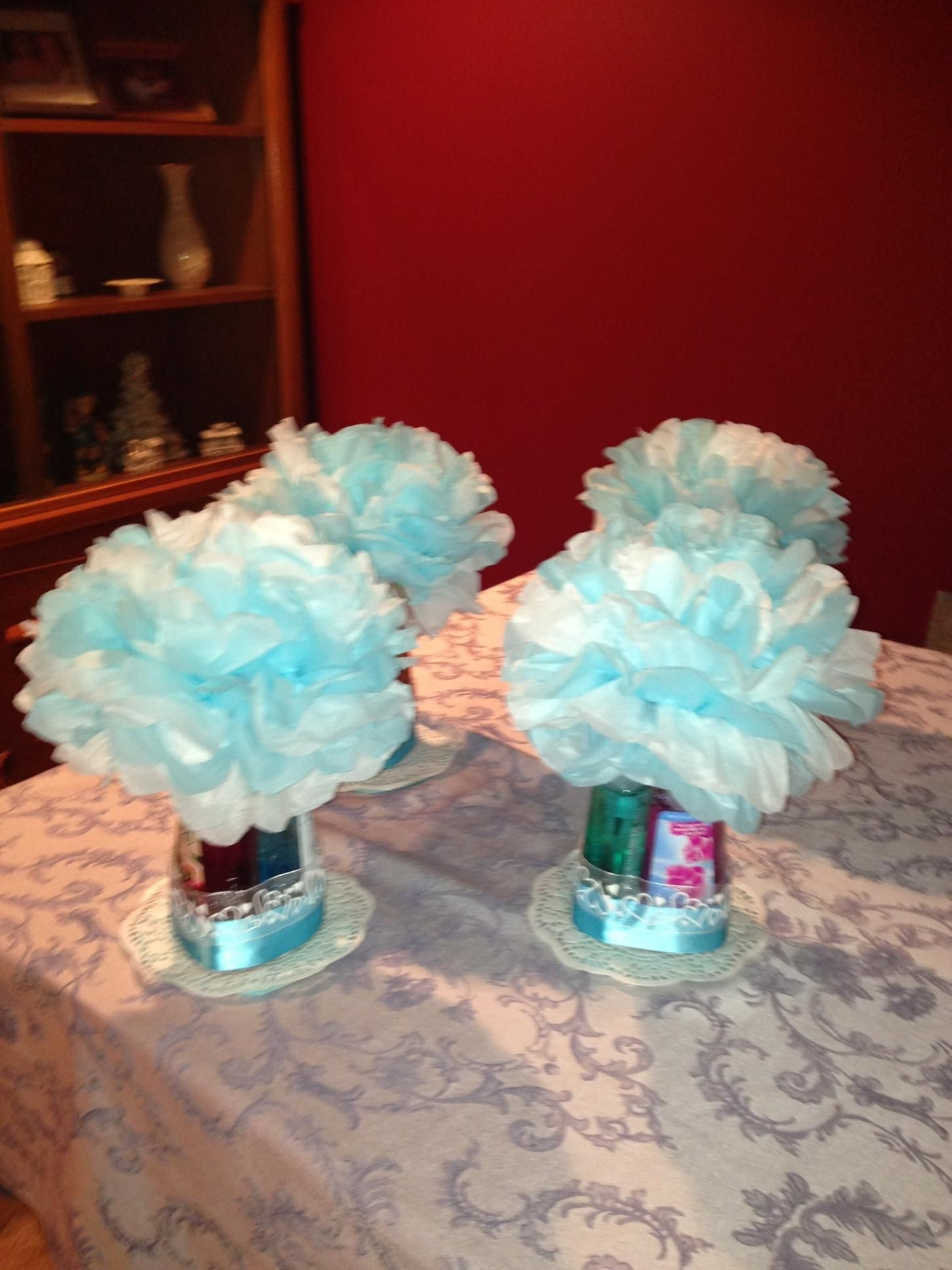 Bridal Shower Center Pieces 3 Hand Soaps From Bath And