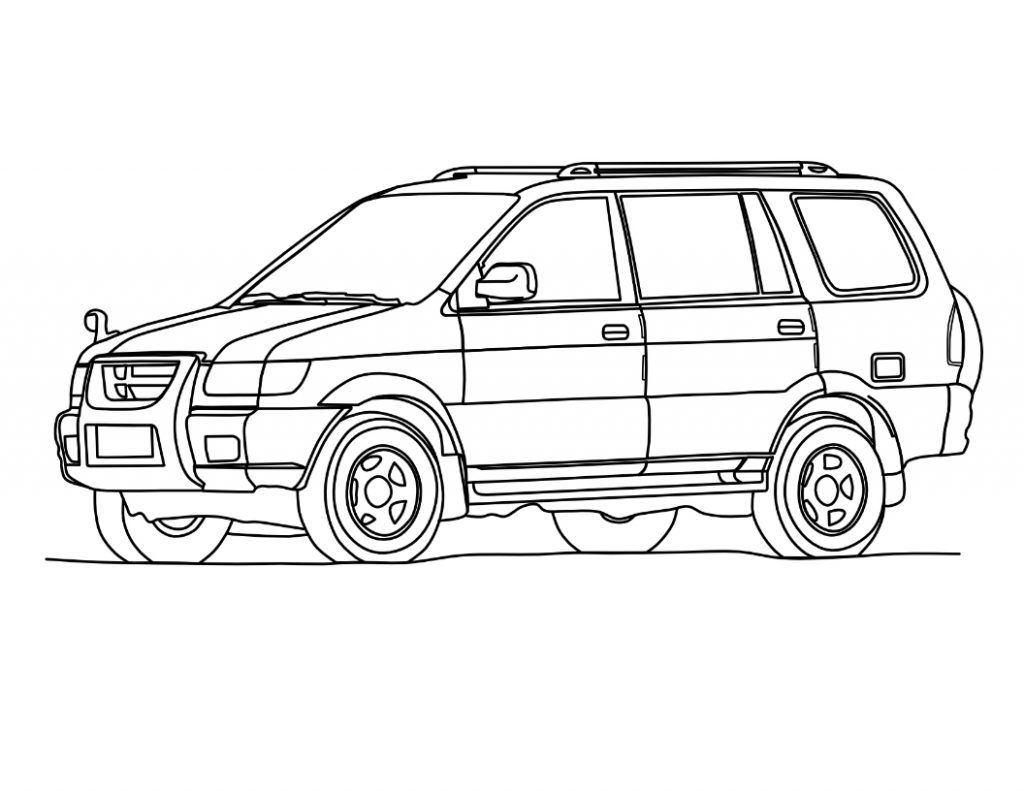Car coloring pages coloring pinterest suv cars and cars