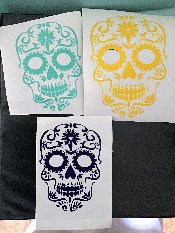 Sugar Skull Halloween Decalskulls Fall Harvest Day Of The Etsy Skull Decal Sugar Skull Halloween Halloween Decals [ 3000 x 2251 Pixel ]