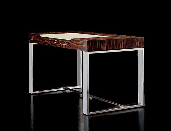 Great desk by Taylor Llorente     http://www.taylorllorentefurniture.com/designer_desks_writing_tables_art_rv_desk.htm
