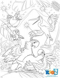 Rio 2 colouring pages Free downloads to enjoy this summer Free