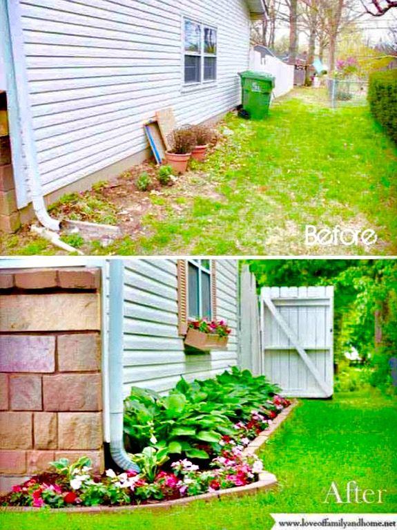 Before After Backyard Backyard Landscaping Front Yard