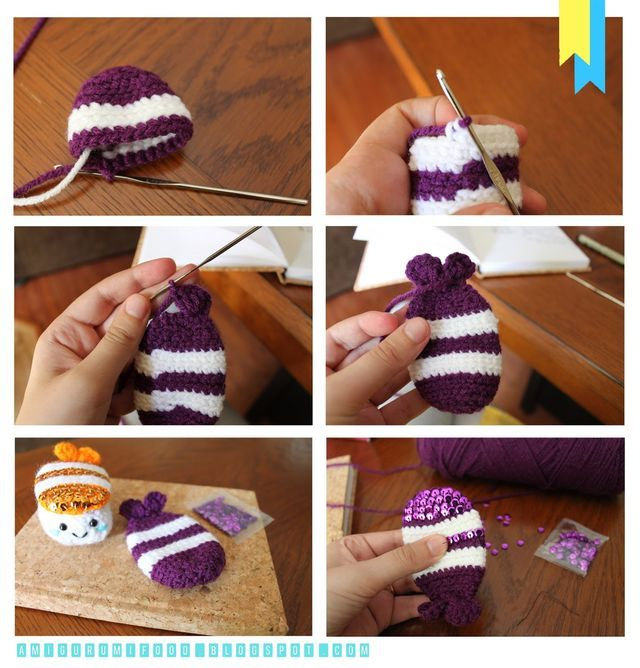 New Free pattern!!Shining sushi Click to enlarge!Super easy to make!For this pattern you need to use 2.70 mm crochet hook! I hope you like it!If you have any questions or comments about this pattern f