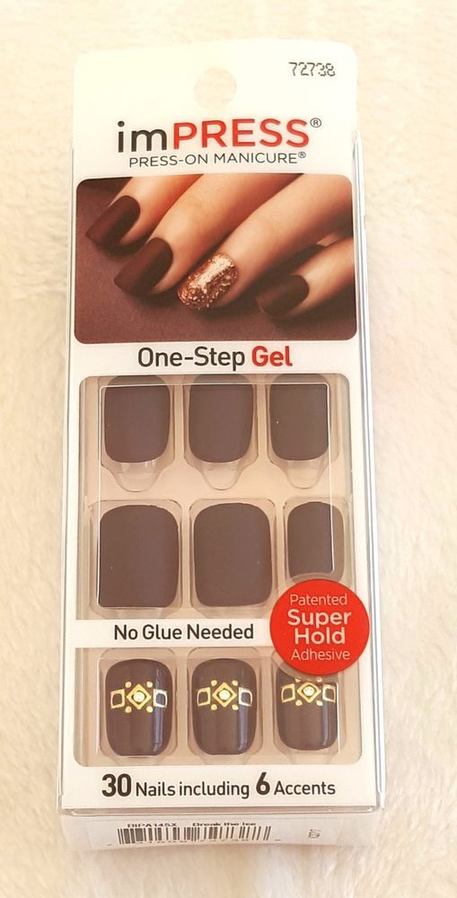 Kiss ImPRESS Press-On Manicure BREAK THE ICE #72738 | Manicure, Kiss ...