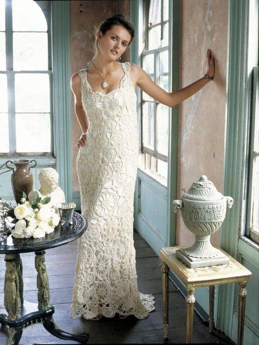 Crochet & Knit Wedding Gowns (16) | vestidos crochet | Pinterest