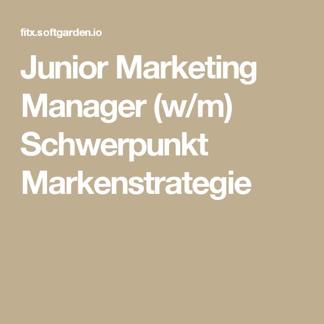 Junior Marketing Manager (w/m) Schwerpunkt Markenstrategie
