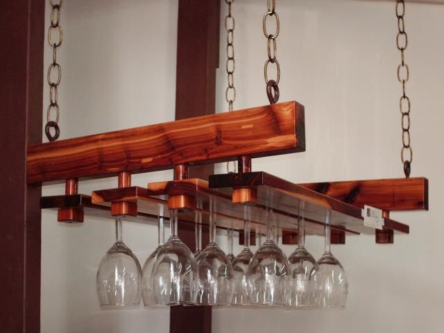 Outdoor Bar Gl Holder For The Home Pinterest Holders Under Cabinet Wine Rack Photos