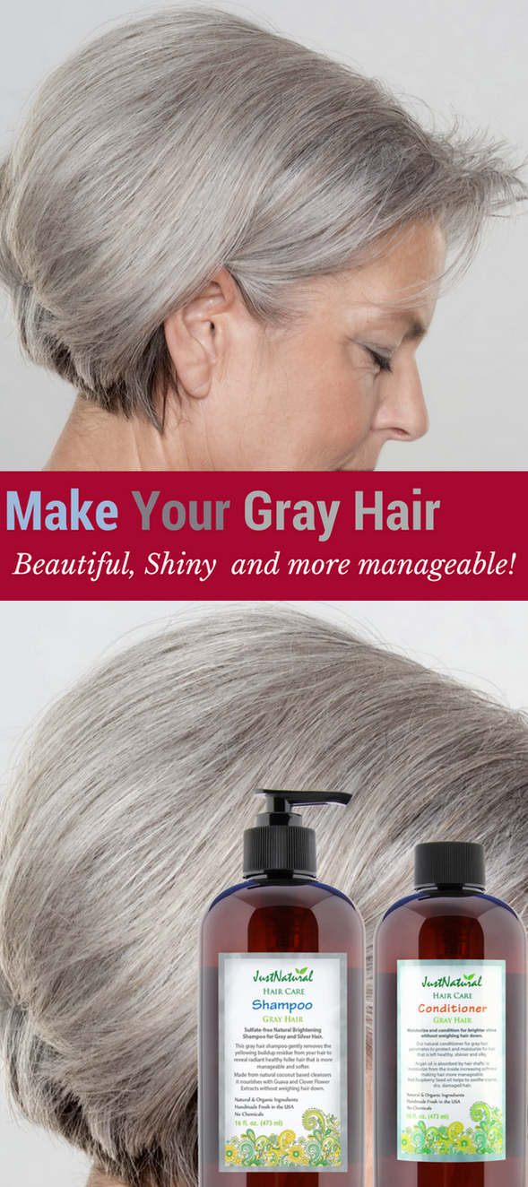 Sulfate-free brightening shampoo for gray and silver hair ...