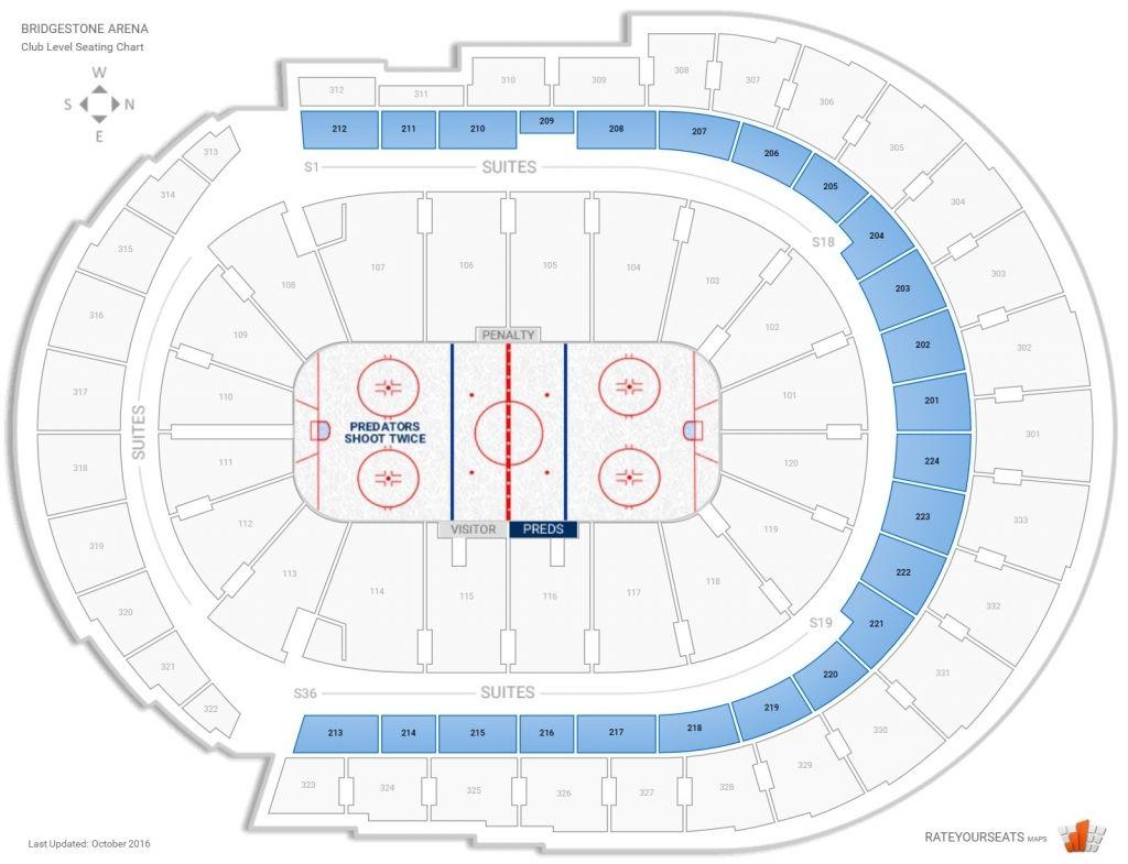 Nashville Predators Club Seating At Bridgestone Arena Inside Preds Seating Chart Nashvillepredatorsseatingchartsuites Predatorsseatingchartinteractive Predatorsseatingchartwithrows Predsgameseatingchart