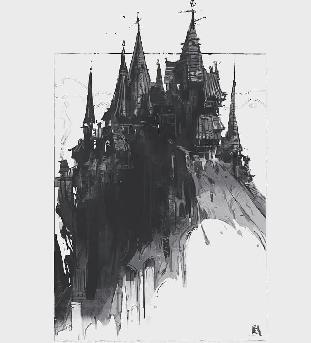 """Reza Afshar (New Page) on Instagram: """"I would like to work on this style again! Let me know what do you think ? . . #conceptdesign #drawing #blackandwhite #stuff #storytelling…"""""""