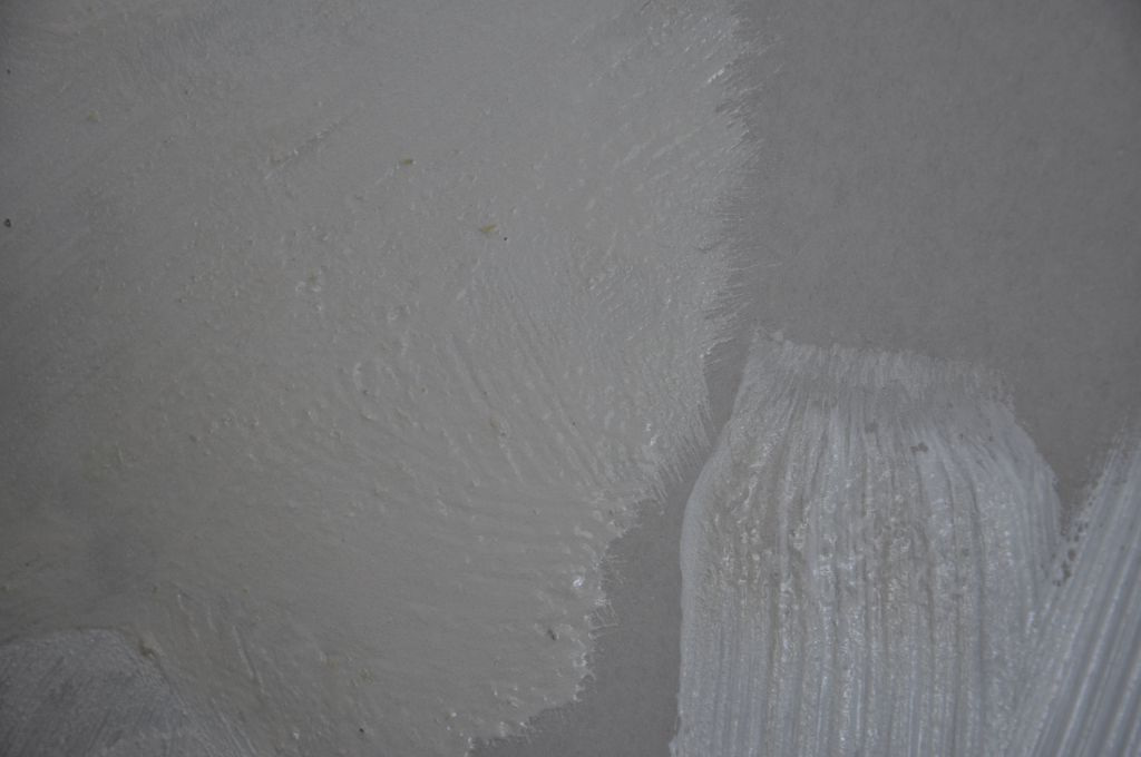 Peinture (enduit) à la pomme de terre - potatoes painting ( in