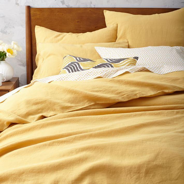 Belgian Linen Duvet Cover Shams Horseradish Belgian Linen Duvet Covers Linen Duvet Yellow Bedding