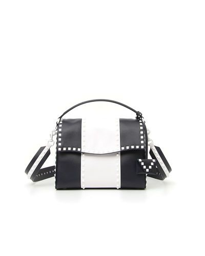 VALENTINO FREE ROCKSTUD COLORBLOCK LEATHER CHAIN SHOULDER BAG ... d0ab06fd66