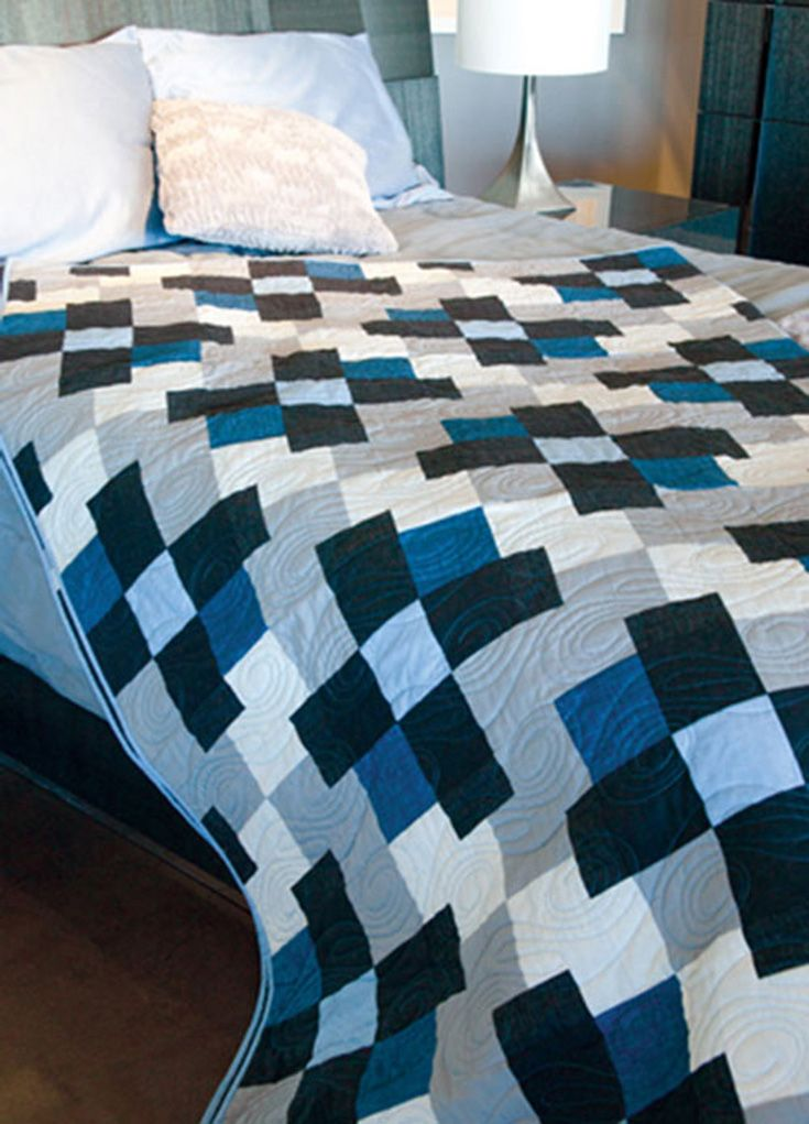 Strip piecing makes this big bold quilt a snap to piece. Shadow ... : big and bold quilt pattern - Adamdwight.com