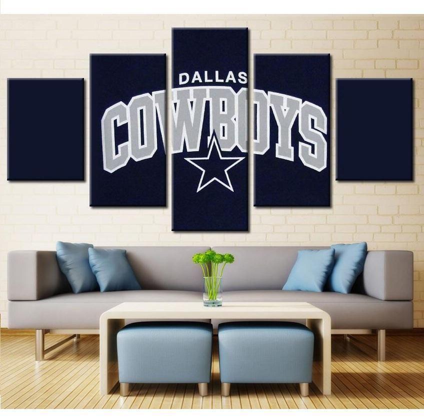 5 Panel Dallas Cowboys Canvas Wall Art Cheap For Living