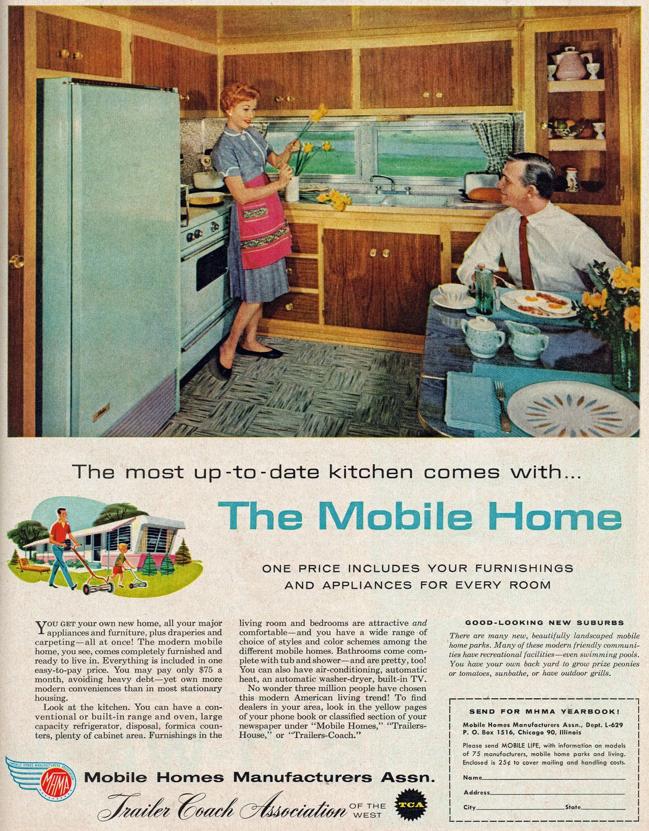 Retro Mobile Homes Fab Kitchen Vintage Advertising Manufactured Homes