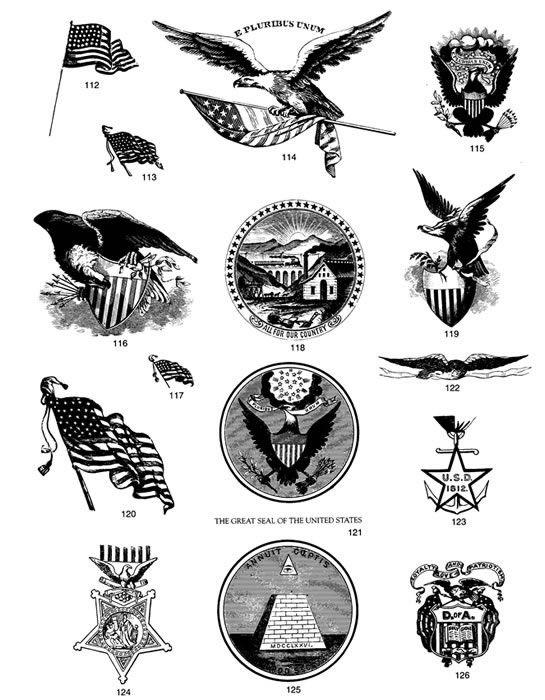 Free Dover Download Americana Symbols Colonial America