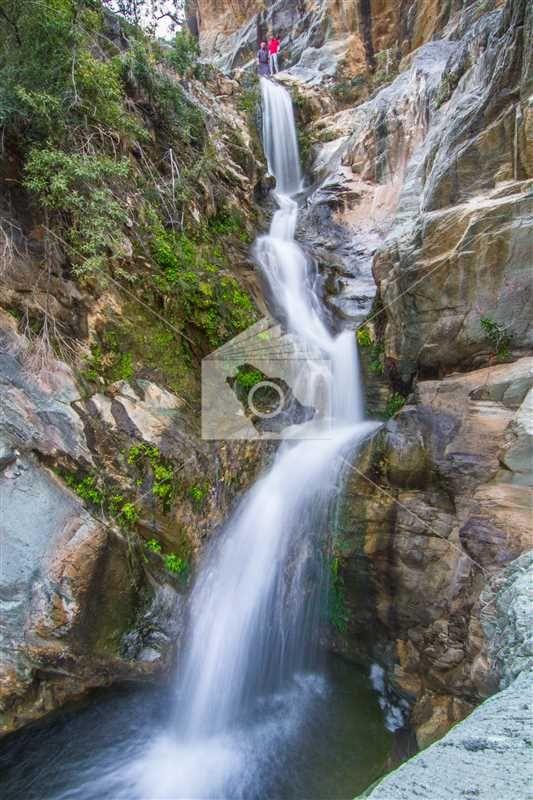 شلال عين الجمل المشهور بمنطقة الباحة Waterfall Outdoor Water