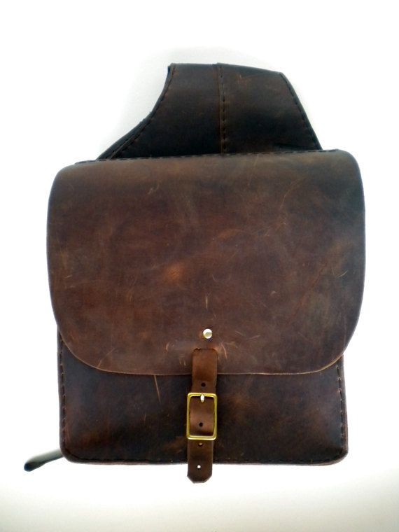Commuter Saddlebags by beardedladyleather on Etsy, $225.00